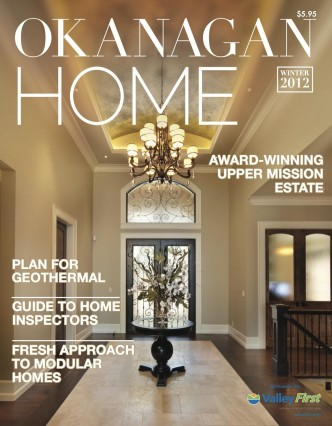 Okanagan Home Magazine Cover - Winter 2012